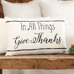 Give Thanks Accent Pillow