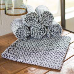 Diamond Pattern Cloth Napkin Set of 6