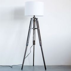 Tripod Floor Lamp With Cotton Shade