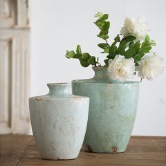 Weathered Grace Terracotta Vase One of Each