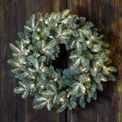 LED Lights Spruce Wreath