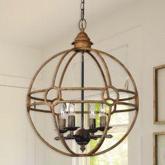 Metallic Sphere Chandelier