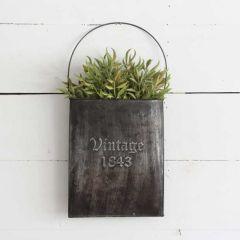 Vintage Inspired Hanging Wall Pocket Planter Set of 2