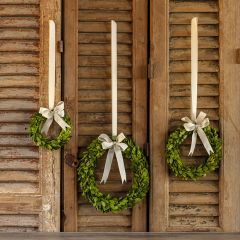 Hanging Boxwood Wreath Collection Set of 3