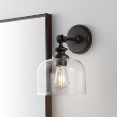 Glass Shade Wall Sconce Set of 2