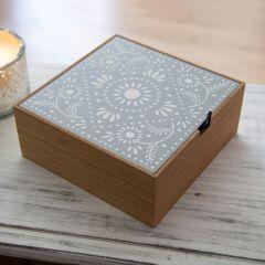 Decorative Wooden Tabletop Storage Box