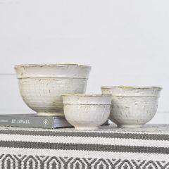 Ceramic Farmhouse Serving Bowls Set of 3