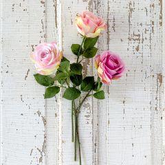 3 Stem Summer Garden Rose Bundle