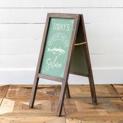 Wood Framed Sidewalk Chalkboard