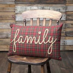 Country Plaid Family Pillow