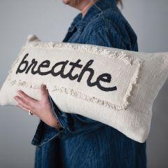 Embroidered Cotton Breathe Lumbar Pillow