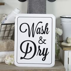 Wash and Dry Wall Sign
