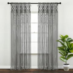 Macrame Textured Curtain Panel Set of 2
