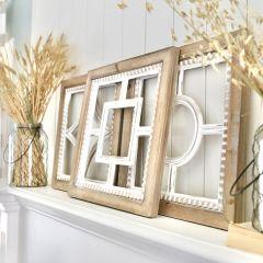 3 Piece Framed Geometric Wall Decor