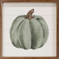 Watercolor Green Pumpkin Wall Art