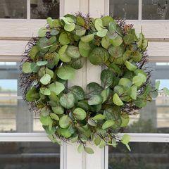 Argyle Apple Eucalyptus Wreath