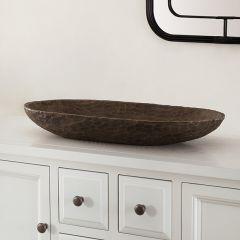 Dark Wooden Bowl Set of 2