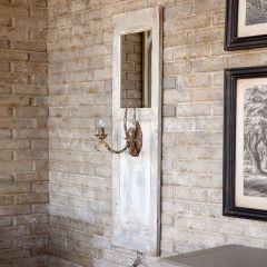 Mirrored Door Panel Wall Sconce