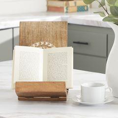 Patterned Wooden Tabletop Book Holder