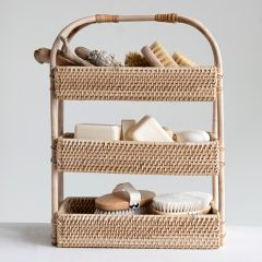 Rattan Tiered Tray