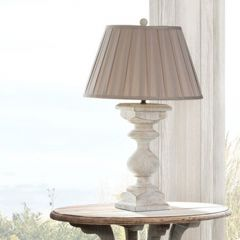 Antique White Balustrade Table Lamp