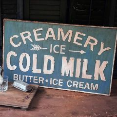 Vintage Inspired Creamery Sign