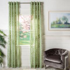Sheer Trellis Print Curtain Panel Set of 2