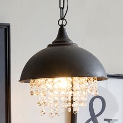Metal Chandelier With Glass Crystals