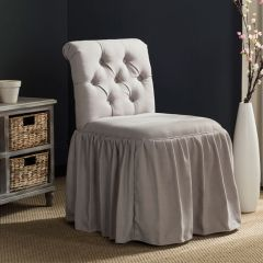 Luxurious Upholstered Vanity Chair