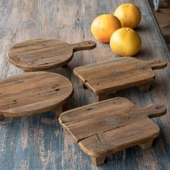 Wooden Cutting Board Risers Set of 4