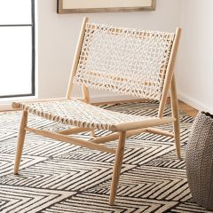 Woven Leather Accent Chair