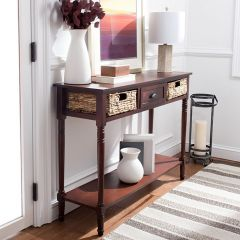 Cottage Console With Basket Drawers