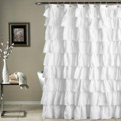 Country Chic Ruffled Shower Curtain