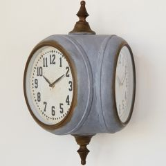 Double Sided Train Station Clock