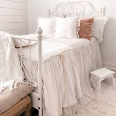 Classic Farmhouse Ticking Stripe Bedspread Set