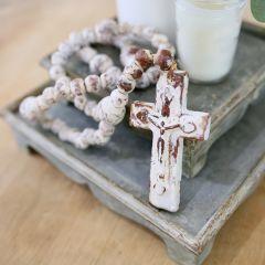 Beaded Clay Rosary With Cross
