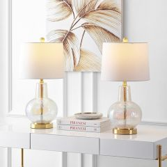 Contemporary Chic Glass Table Lamp