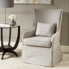 High Back Slip Covered Accent Chair