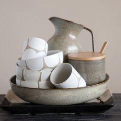 Reactive Glaze Stoneware Container