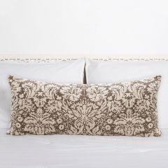 Cotton Chenille Patterned Lumbar Pillow
