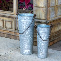 Farmhouse Bucket Vase 15 Inch