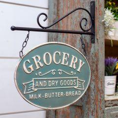 Metal Grocery Bracket Sign