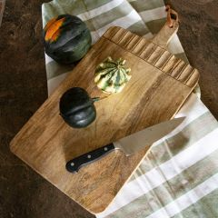 Rustic Carved Mango Wood Cutting Board