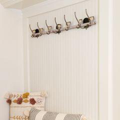 Metal Wall Hook Rack With 7 Hooks