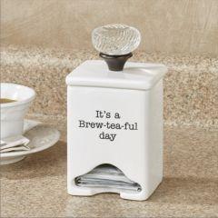 Inspirational Ceramic Tea Bag Caddy