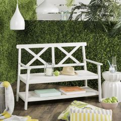 Cottage Bench With Shelf