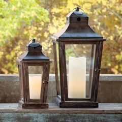 Pleasant Valley Candle Lantern Set of 2