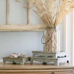 Scallop Base Tiered Tray Set of 3