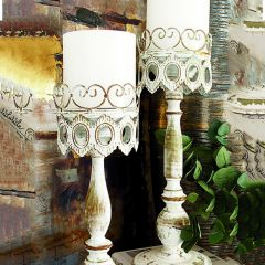 French Country Chic Candle Holder Set of 2