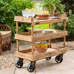 Rustic Farmhouse Bakery Cart